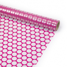 """Transparent film with a pattern of 70 cm x 8 m """"Honeycomb"""" Plum"""