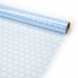 """Transparent film with a pattern of 70 cm x 8 m """"Honeycomb"""" Blue"""
