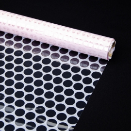 """Transparent film with a pattern of 70 cm x 8 m """"Honeycomb"""" Pink"""