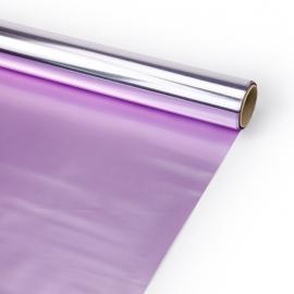 "Film opaque bilateral 60 cm x 8 m ""Metal"" Lavender + Lilac"