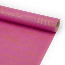 Папір Крафт в рулоні 70см х 8м «Life» Фуксія
