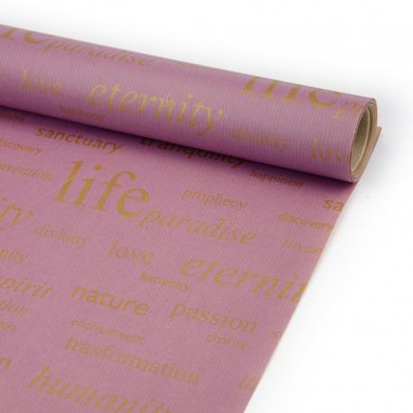 Папір Крафт в рулоні 70см х 8м «Life» Слива