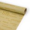 "Kraft paper in a roll of 70 cm x 8 m ""Life"" Beige"