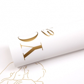 """Matte film in """"Love You"""" 04 Gold sheets"""