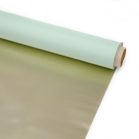 Плівка двостороння в рулоні 58см х 8ярд P.GOY- 136 Light Blue + Gold