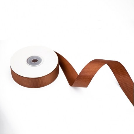 Стрічка репсова 25мм х 22м Шоколад 1185