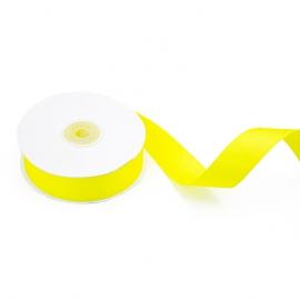 Стрічка репсова 25мм х 22м Жовтий 1231/1015
