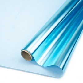 Плівка матова двостороння Метал 60см х 8м Блакитний