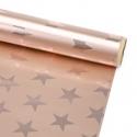 """Папір крейдований новорічний 70см х 150см """"Хром зірка на бронзовому"""""""