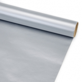 """Папір крейдований новорічний 70см х 200см """"Хром срібний"""""""