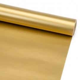 """Папір крейдований новорічний 70см х 200см """"Хром золотий"""""""