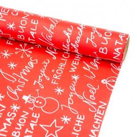 """Папір крейдований новорічний 70см х 200см """"Merry Christmas і надписи"""""""