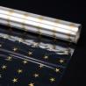 """Пленка прозрачная с рисунком 70см х 250см """"Золотые звезды"""""""