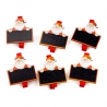 """Wooden clothespin for a decor """"Santa with a plate"""" in a pack of 6 pieces."""