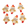 """Wooden clothespin for a decor """"Owl"""" in a pack of 6 pieces."""