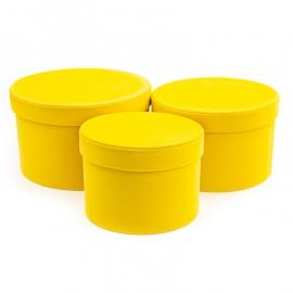 Набор бархатных тубусов YS2516 Желтые