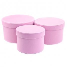 Набор бархатных тубусов YS2516 Розовые