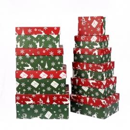Прямокутні новорічні коробки