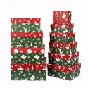 Прямоугольные новогодние коробки